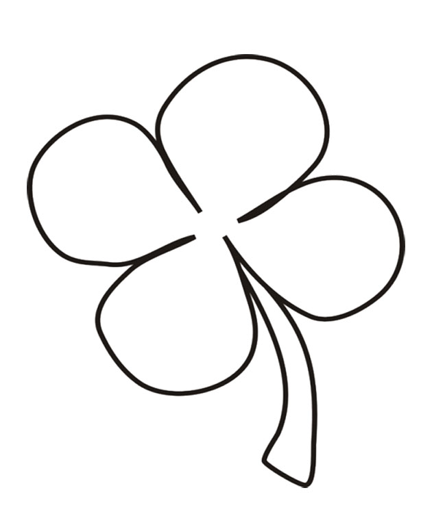 Download Four Leaf Clover That Simple Coloring Pages Or Print Four ...