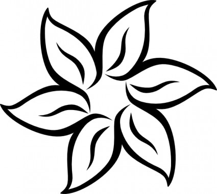 Black white flower flower drawing Free vector for free download ...