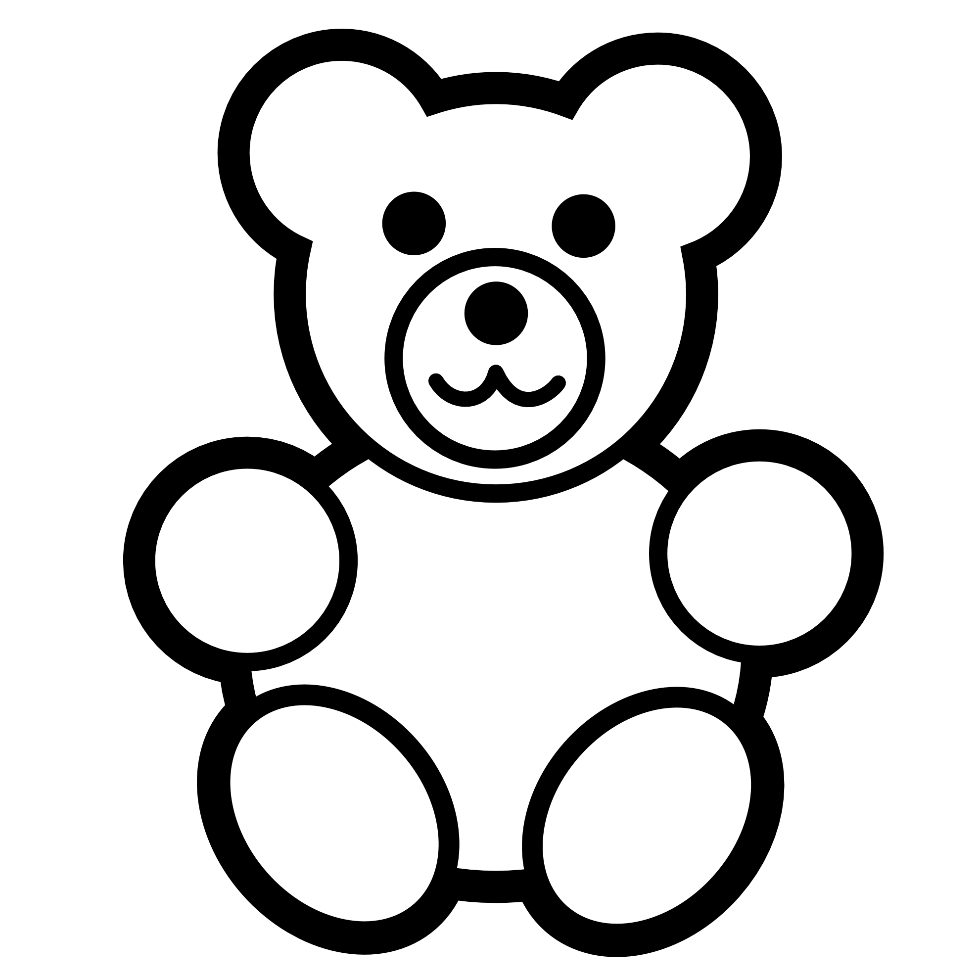 Bear Clipart Black And White | Clipart Panda - Free Clipart Images
