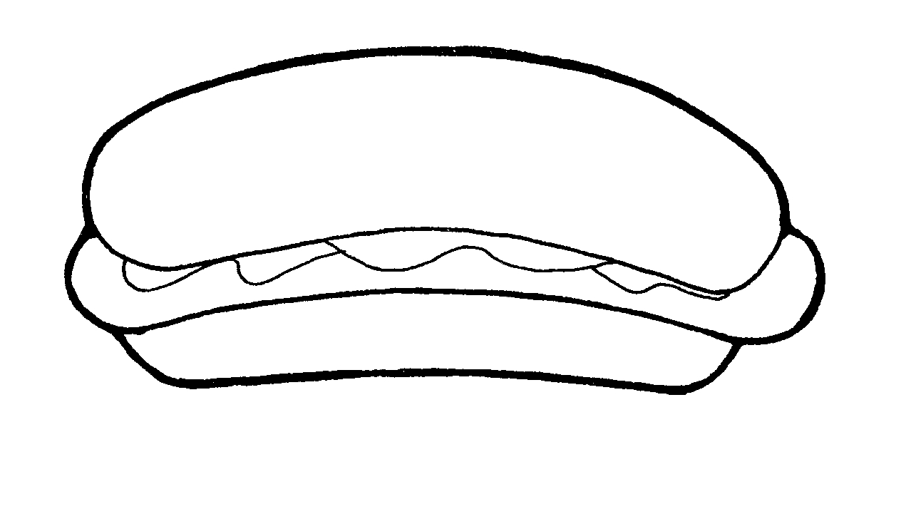 Hotdog Buns Coloring Pages