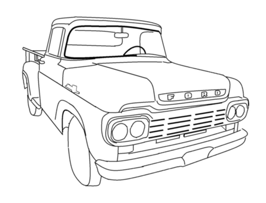 cartoon truck drawings