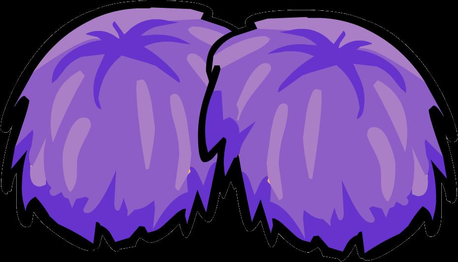 purple pom poms clipart