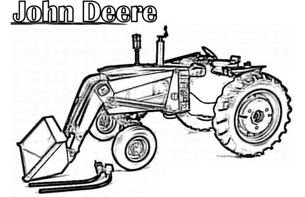 Tractor Coloring Pages Farm Tractors Free Best Res
