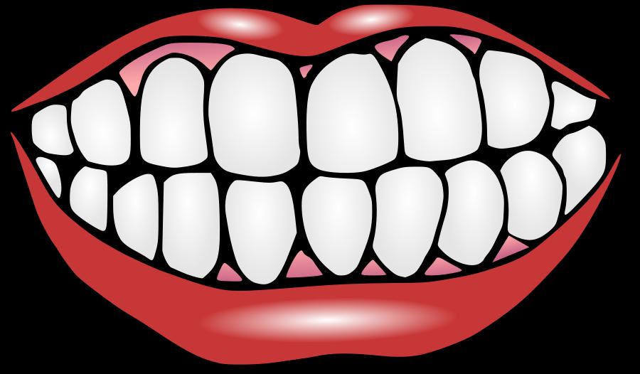 Рисуем зубы улыбку