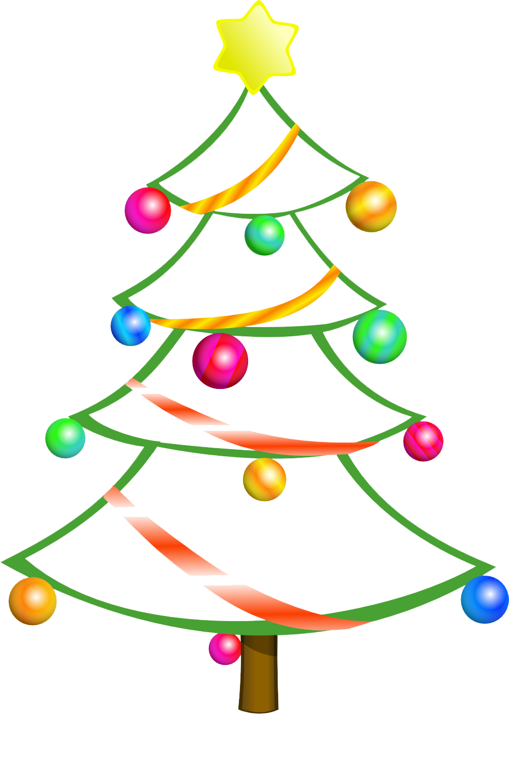 Clip Art Christmas Tree | Clipart Panda - Free Clipart Images