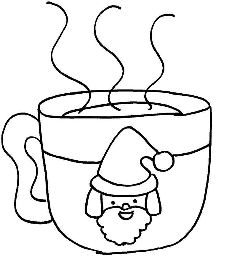 Hot Chocolate Cup Outline Image