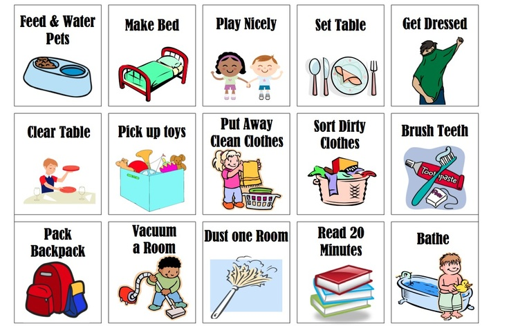 It's just a graphic of Irresistible Printable Chore Pictures