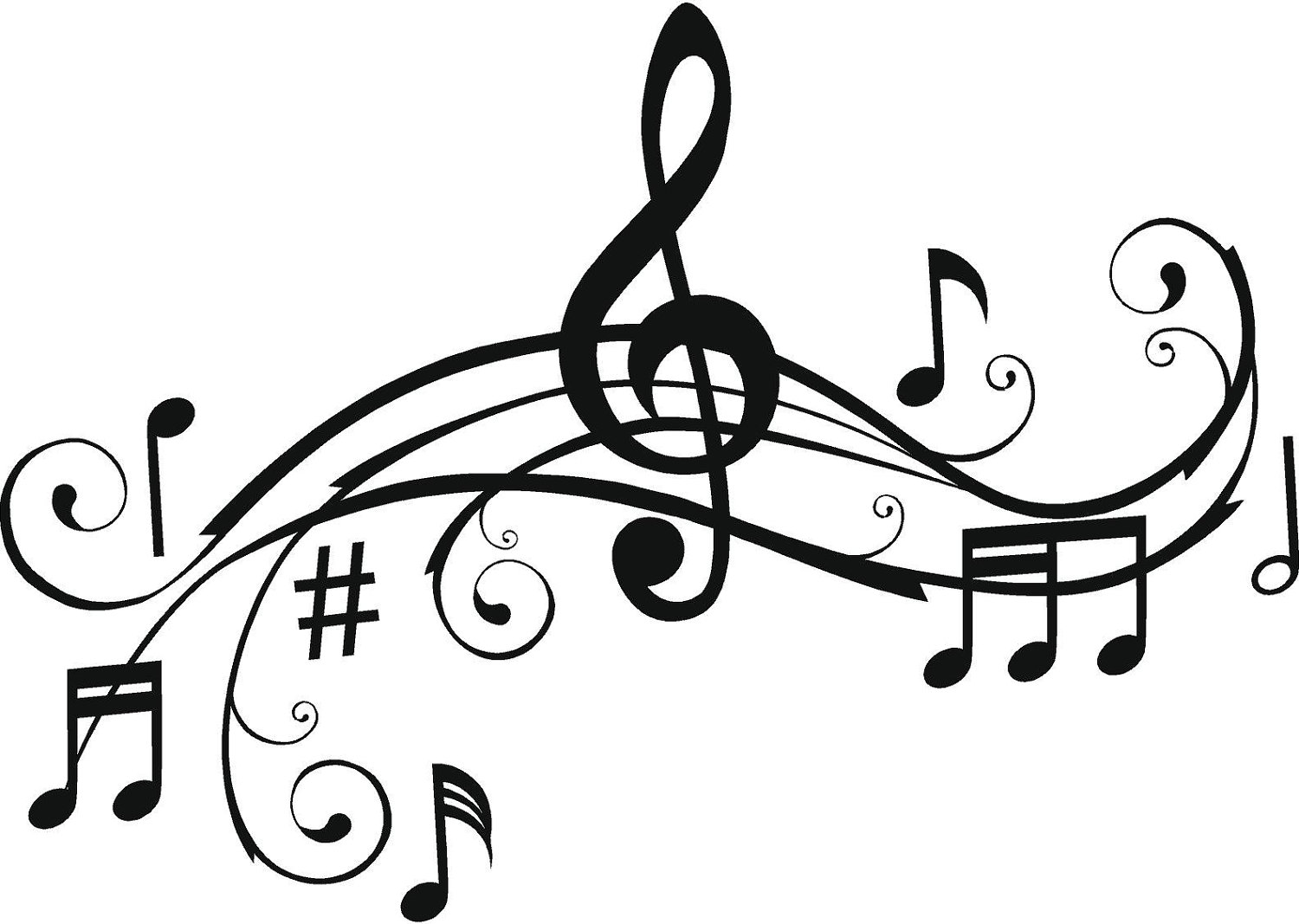 Line Art Music Notes : Musical notes art cliparts