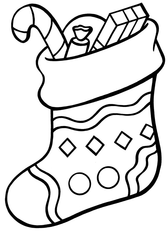 coloring pages stocking - photo#1