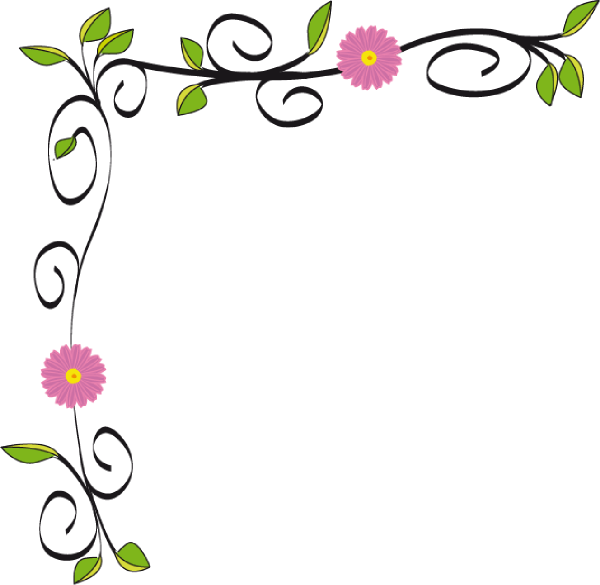 Simple flower border designs free vector download 16567