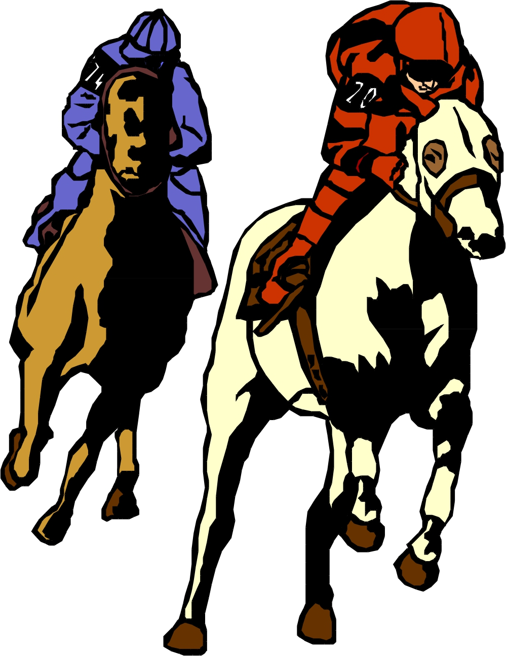 Racehorse Clipart - Cliparts.co
