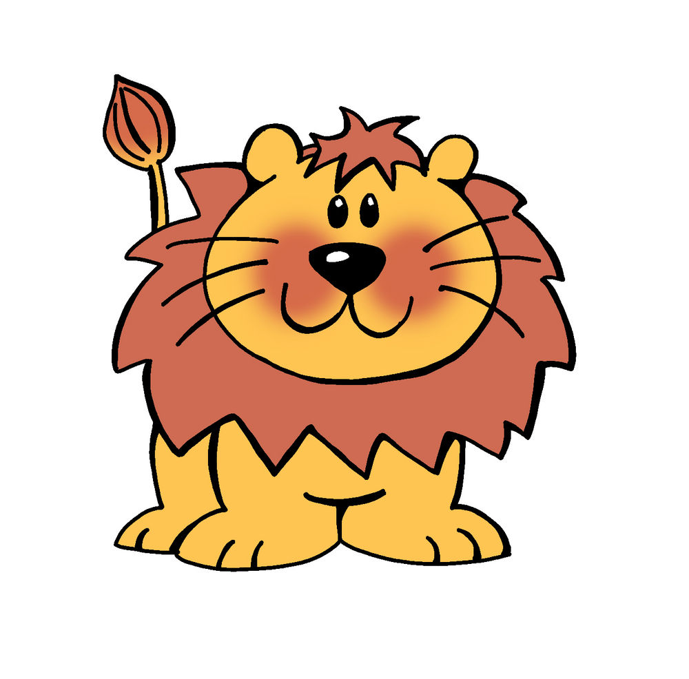 Cute Cartoon Lion - Cliparts.co