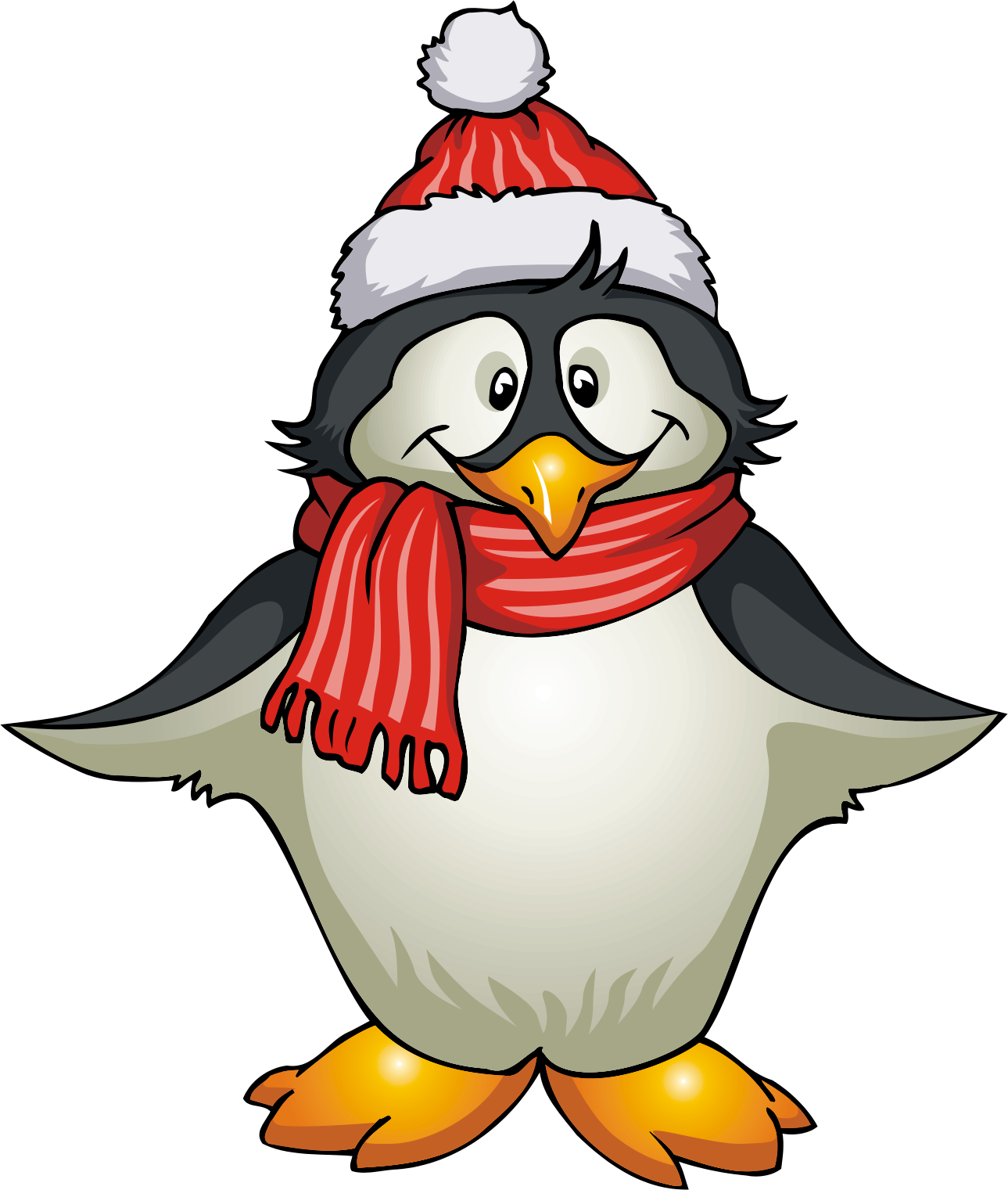 clipart panda winter - photo #14