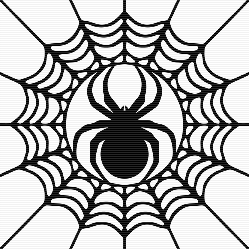 Foliate_Spider_In_Cobweb_Clip_Art_Copyright_2012.jpg