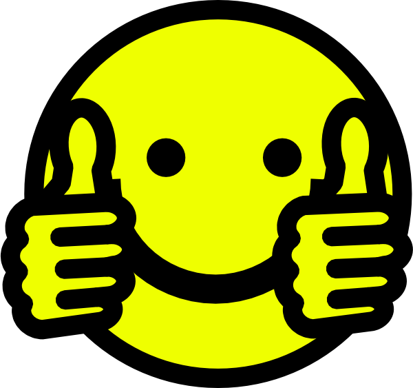 Thumbs up smiley clip art vector clip art online royalty free