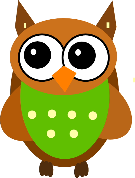 Green Cartoon Owl Clip Art Free Wallpapers To Download | woliper.