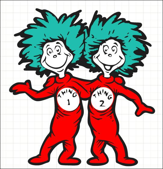 Pix For > Thing 1 And Thing 2 Clipart