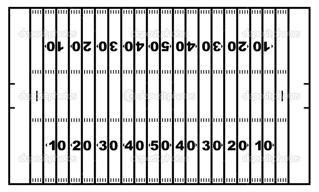 blank football field template - printable soccer field diagram