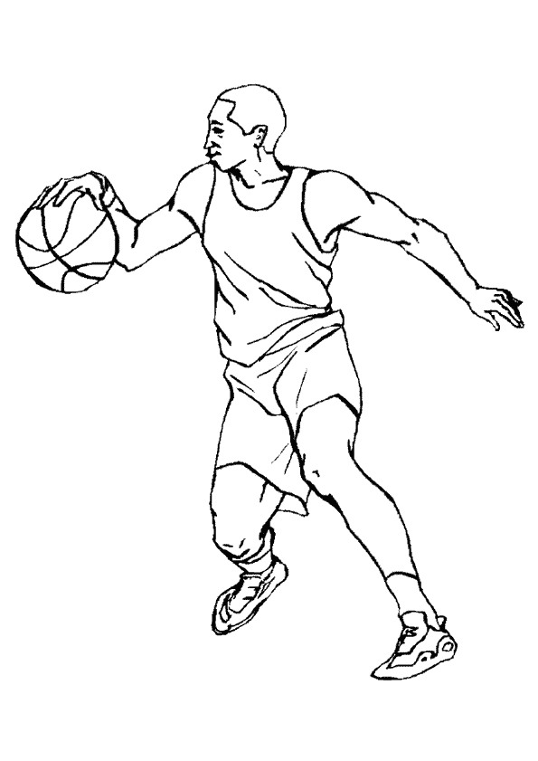 person basketball colouring pages cliparts co