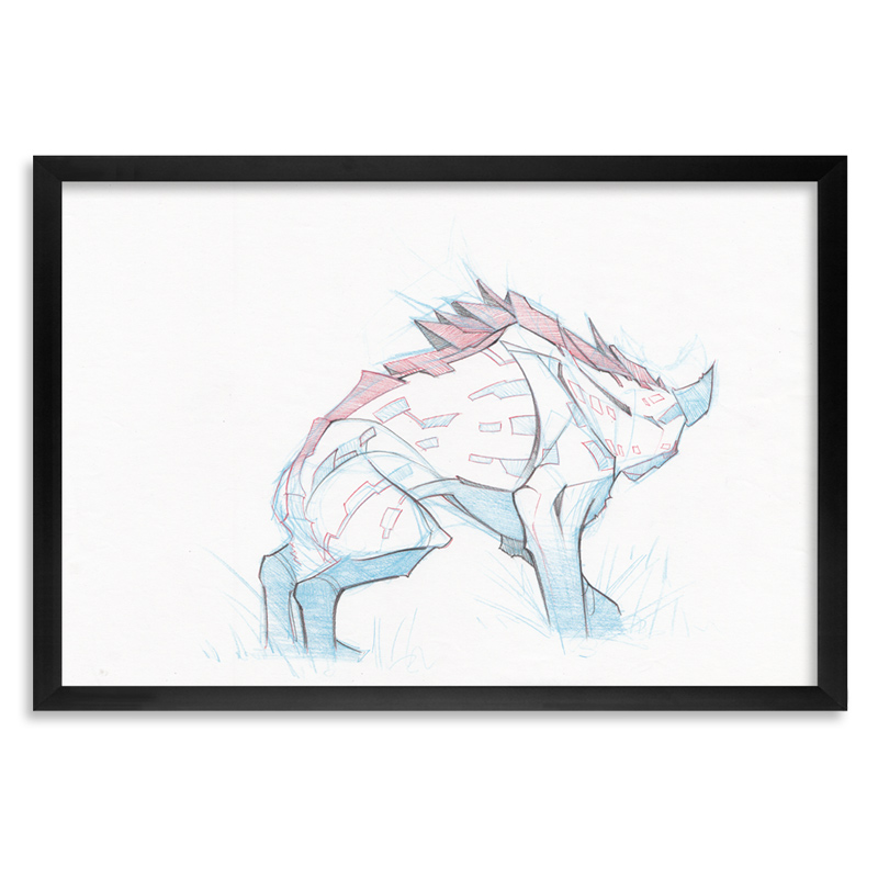 Steven Lopez - Hyena 2 - Original Sketch | 1xRUN Limited Edition ...