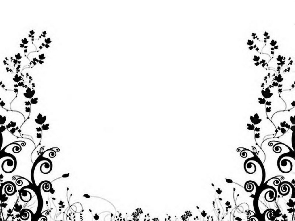 Black And White Floral Pattern Wallpaper - Cliparts.co