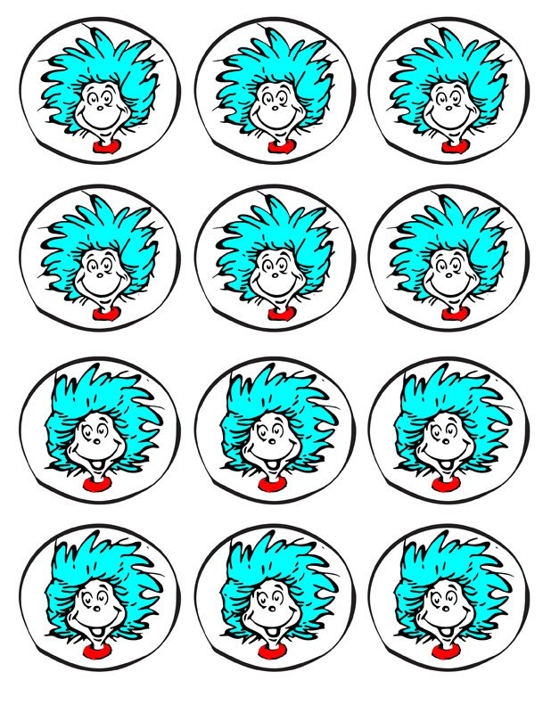 Cat in the Hat party printables - THING 1 & THING 2