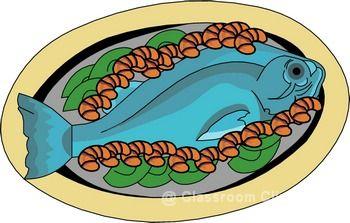 Seafood Restaurant Dinner Clipart
