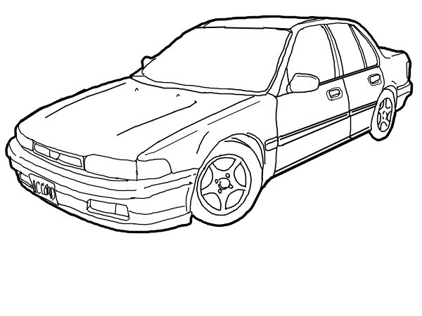 Honda Accord Line Art