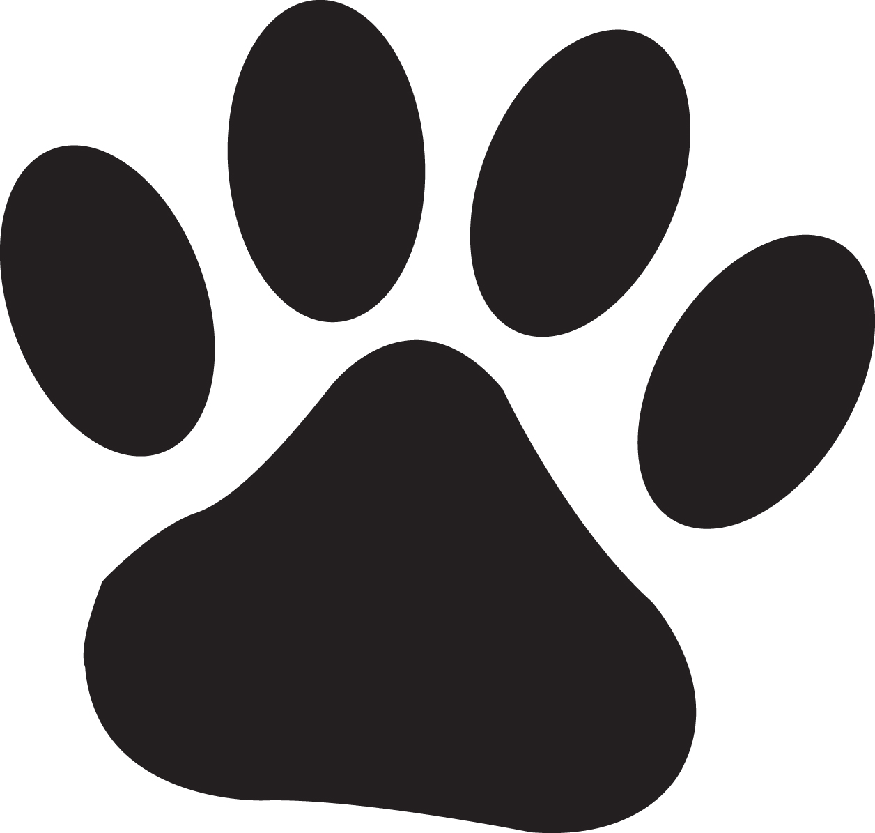 Free Clipart Cat Pawprint