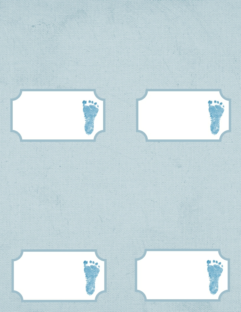 baby shower place cards template baby footprint template
