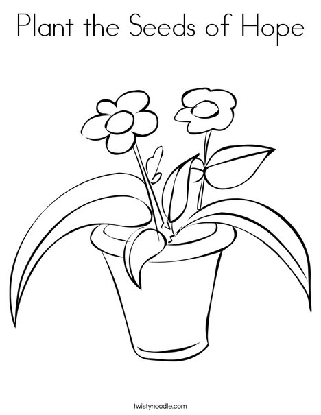 coloring pages seeds and plants - photo #13