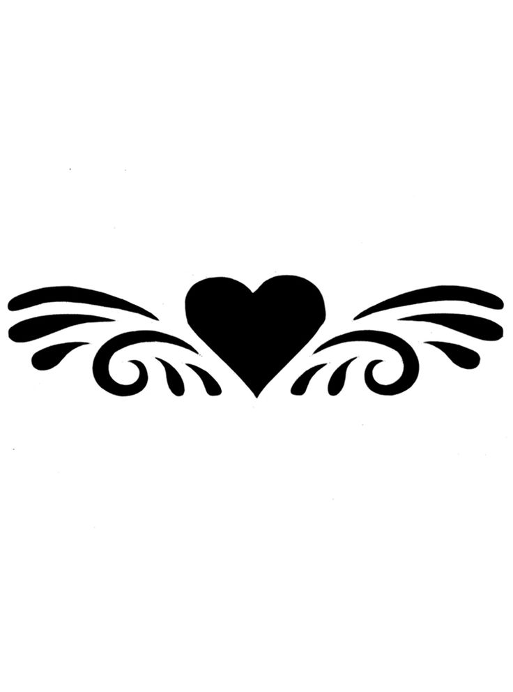 Tattoo borders designs cliparts co - Simple Heart Tattoo Designs Splashed Heart Glitter