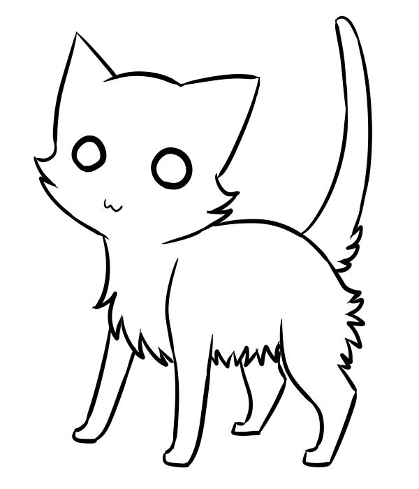 Line Art Cat : Cat lineart cliparts