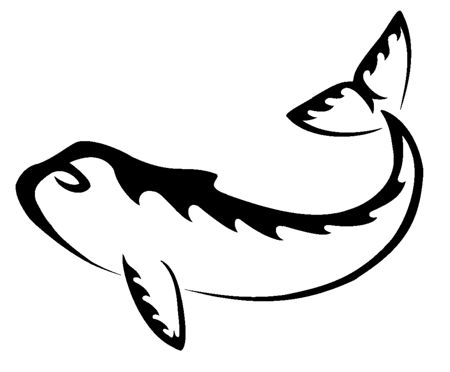 Orca tail tattoo