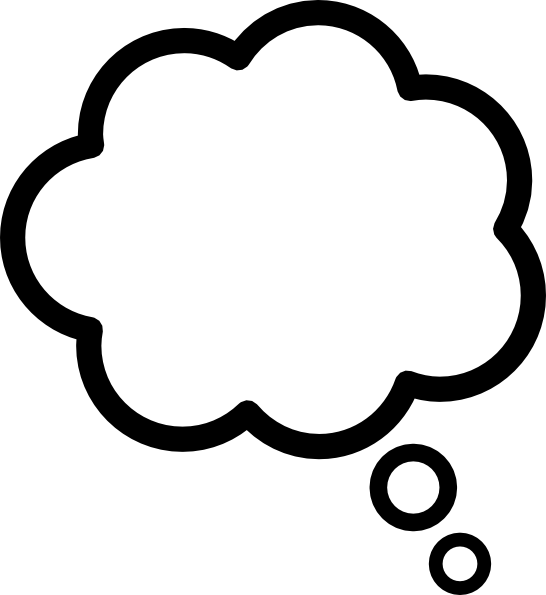 Thought Cloud clip art - vector clip art online, royalty free ...