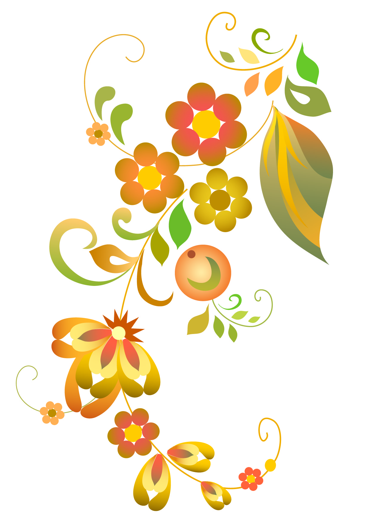 Line Art Flower Vector Free Download : Flower vector cliparts