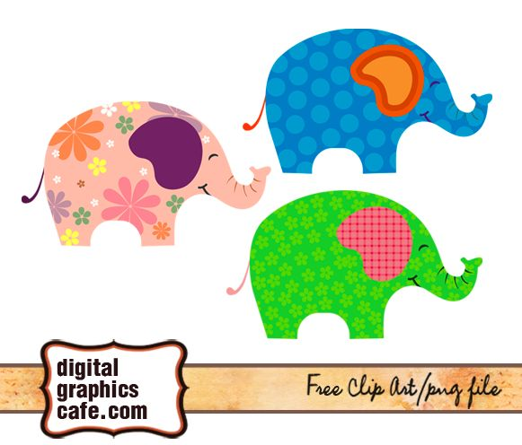Free images, elephant clipart free graphics download | Digital ...