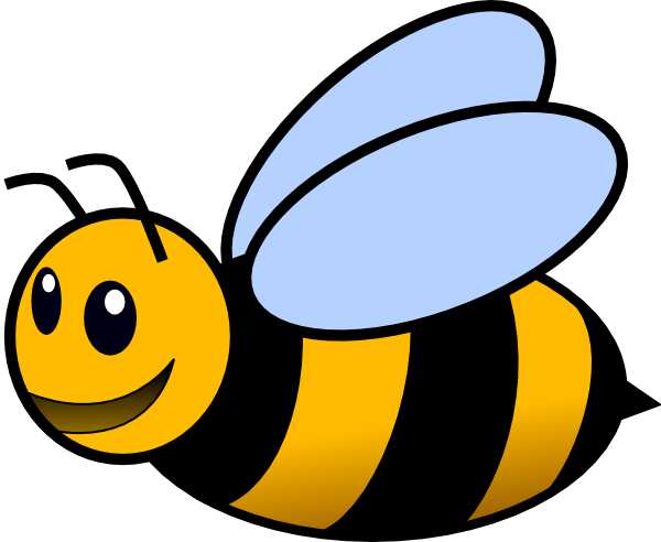 Cute Bee Clipart Black And White