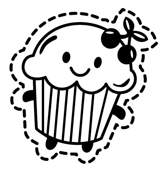Cupcake outline - ClipArt Best - ClipArt Best