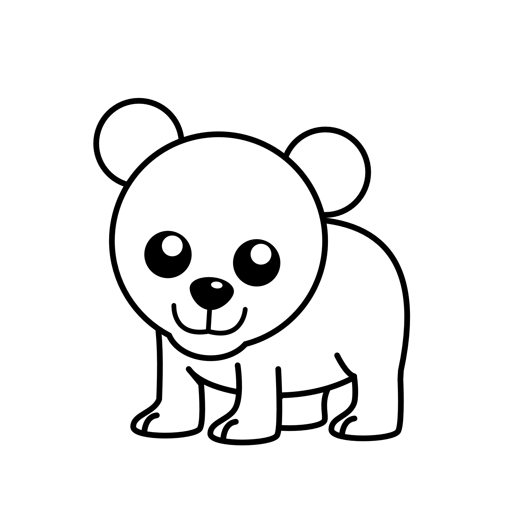 Black And White Clipart Bear - ClipArt Best