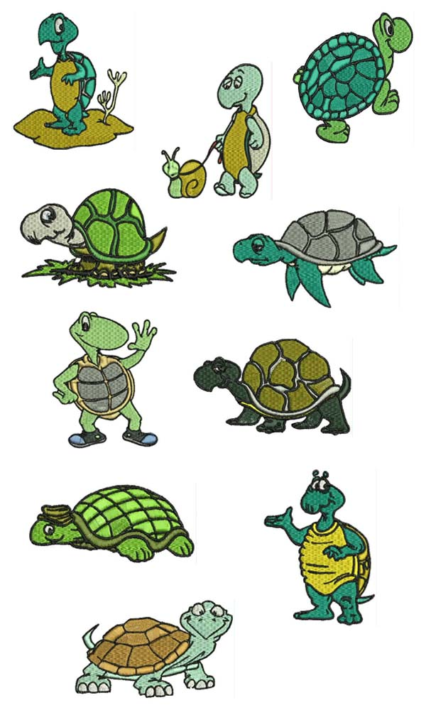 Pictures of animated turtles cliparts