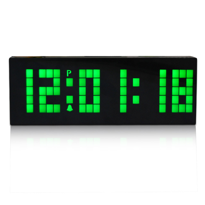 Online get cheap led alarm clock battery operated for Led digital wall clock battery operated
