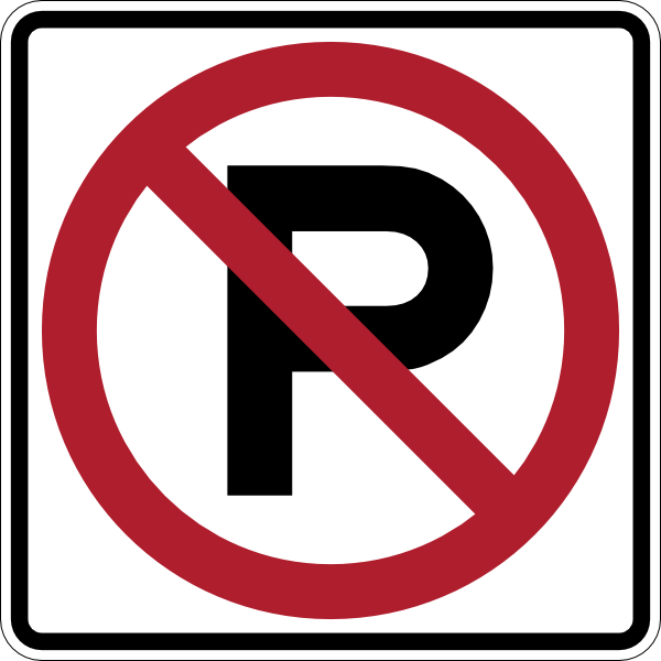 No Parking Sign clip art - vector clip art online, royalty free ...