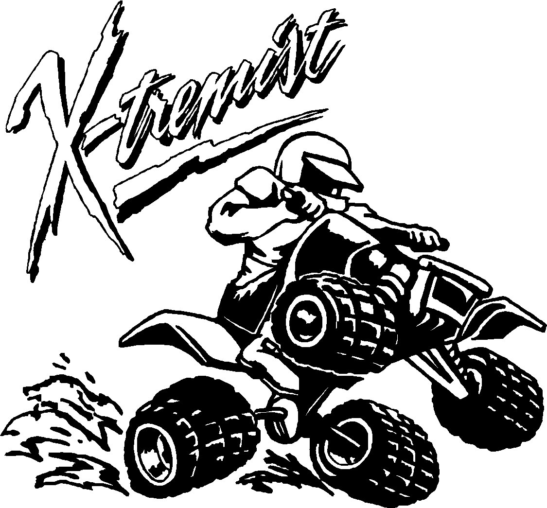 Four Wheeler Clip Art : Mudding four wheeler clipart