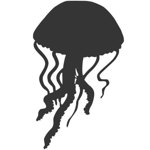 Jellyfish Silhouette - Cliparts.co