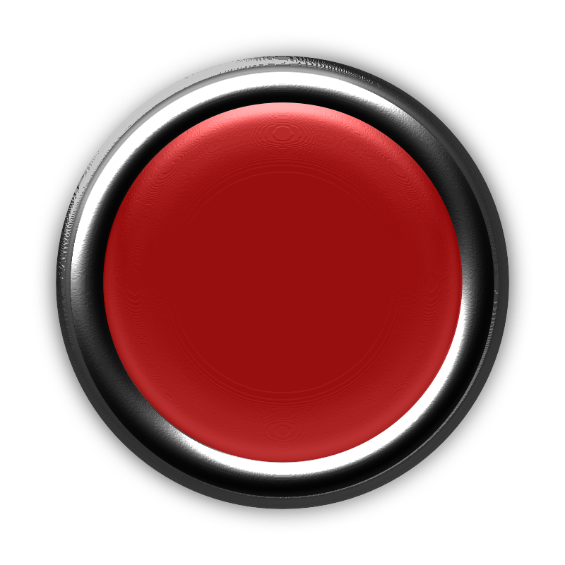 Clipart - Red Button with Internal Light Turned Off