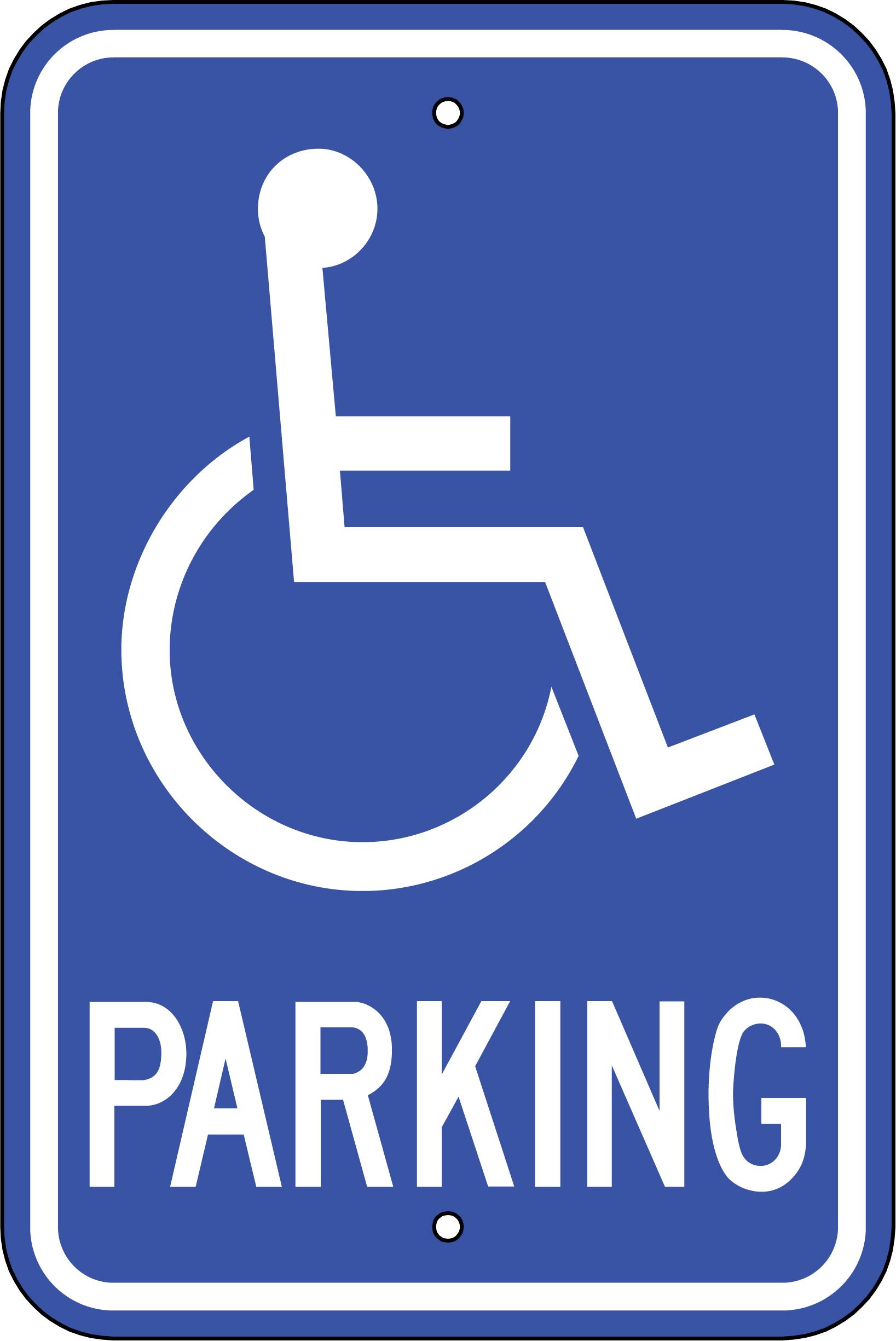Handicap Parking Signs Printable - Cliparts.co