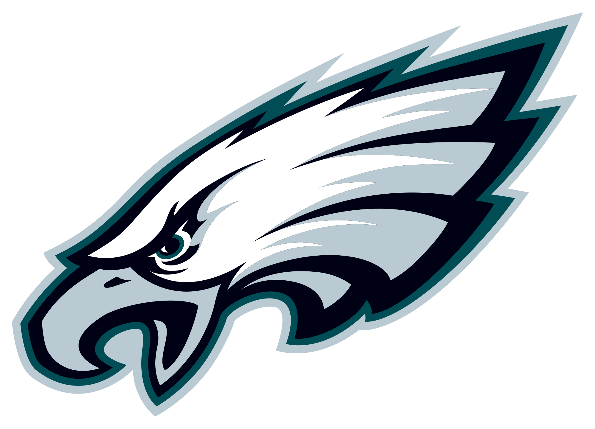 Images For  Shark Football  Eagle Head Vector Png