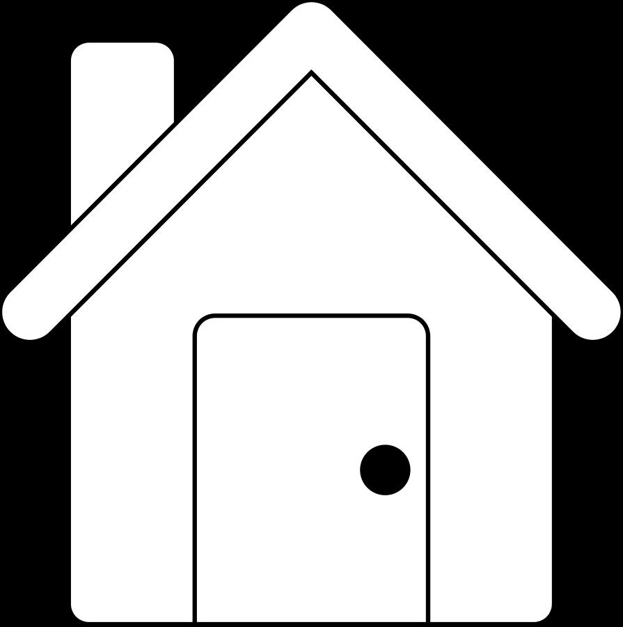 Line Art Home : House vector art cliparts