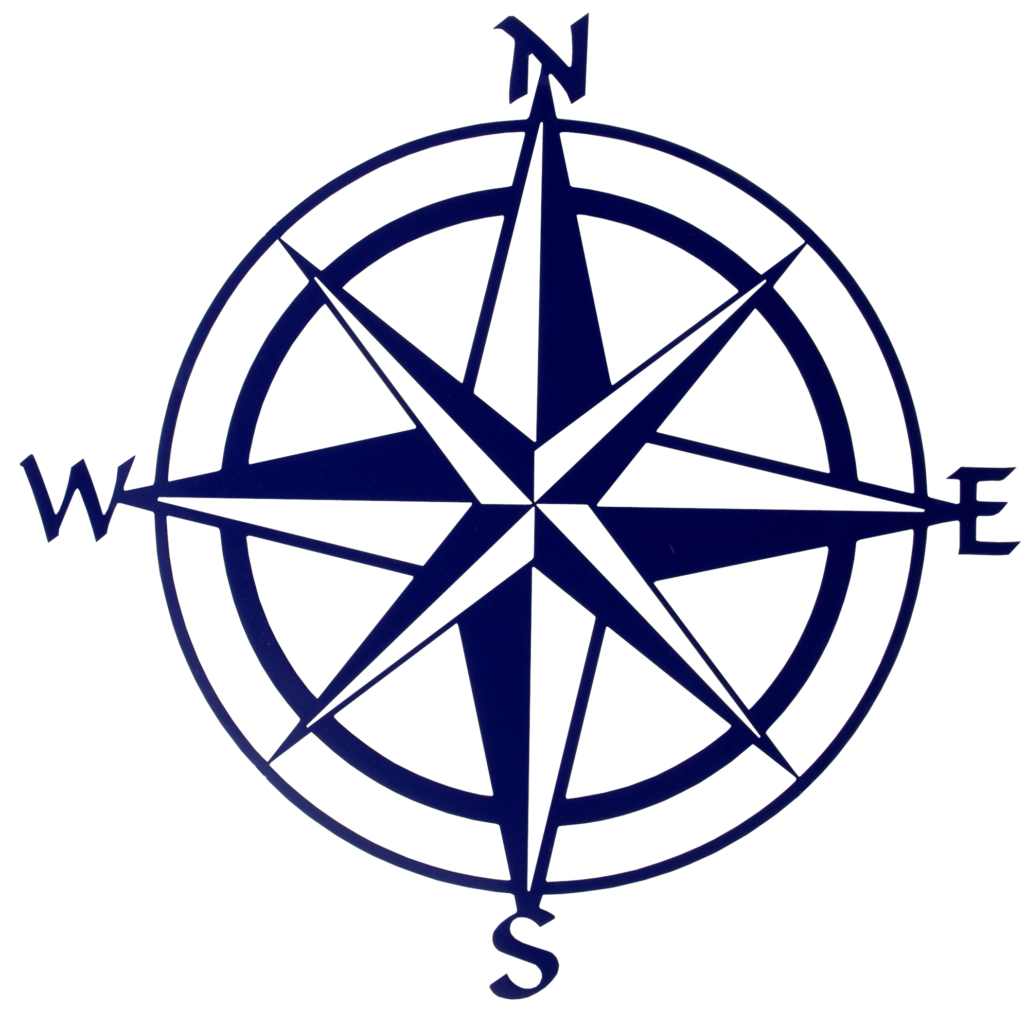 Compass Pointing East Tattoo Blank Compass Rose - C...